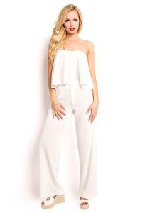 Sommerliches Kombi-Set Top und Hose, Farbe: Weiß, Größe: S
