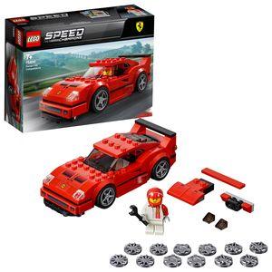 LEGO 75890 Speed Champions Ferrari F40 Competizione, Bauset mit Rennfahrer-Minifigur, Fahrzeugspielzeuge für Kinder, Forza Horizon 4 Erweiterungsset