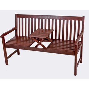 Garden Pleasure Bank PADANG mit Tisch zum Hochklappen Eukalyptus Grandis100% geölt 985095