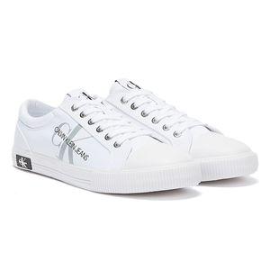 Calvin Klein Jeans Vulcanised Polyester Weiß Herren Sneakers