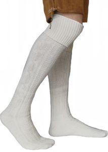 EXTRA Lange Trachtensocken Strümpfe Trachtenlederhose Socken Wolle 75cm, Größe:43-46