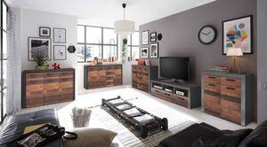 Jones Wohnzimmer Komplettset Old Wood