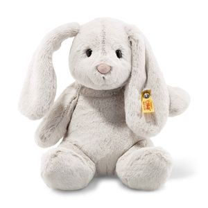 Steiff 080470 Soft Cuddly Friends Hoppie Hase | 28 cm Kuscheltier, hellgrau