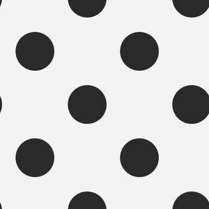 Superfresco Easy - Kinderzimmer - Vliestapete - Punkte - Schwarz - 10m x 52cm