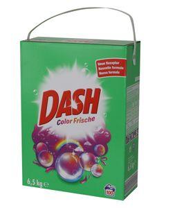 Dash Vollwaschmittel Color Frische 6,5kg 100WL Universal Waschmittel Pulver