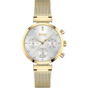 Hugo Boss Damen Multi Zifferblatt Armbanduhr in Silber/Gold|1502552