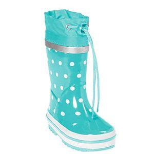 Playshoes regenstiefel Punkte Türkis