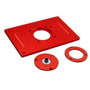 Universal Router Tischkreissaegeeinsatz Grundplatte Kit Red Board Trimmen Maschine Flip Board fuer die Holzbearbeitung