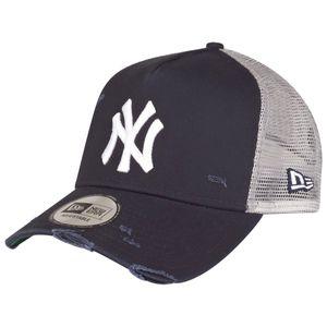 New Era MLB Distressed Trucker Adjustable Cap NY YANKEES Dunkelblau, Size:Onesize
