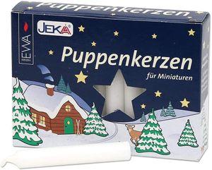 Puppenkerzen 10 x 65 mm weiß 20 Stück für Miniaturen