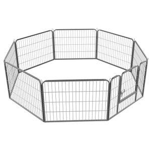 Yaheetech  Welpenauslauf 8 eckig Welpenlaufstall Tierlaufstall Freigehege  Hunde Laufstall 80 x 60 cm