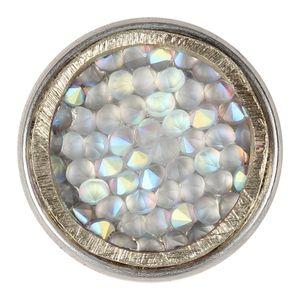 Noosa Chunk Geburtsstein - Juni Reinheit (weiß)
