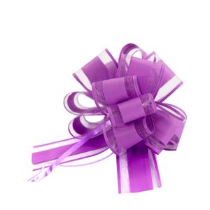 Oblique Unique Geschenkschleife Deko Schleife für Geschenke Tüten Zuckertüte Weihnachten Geschenkdeko - dunkellila