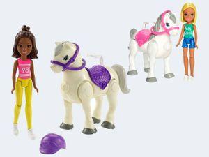 Barbie On The Go Puppen + Pony sortiert