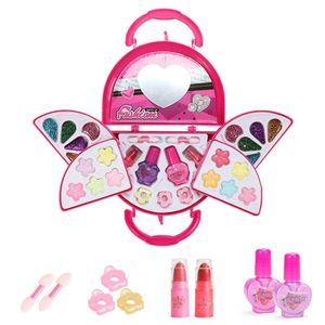 Make-up Handtasche für Mädchen, Make-up-Set für Kinder, Waschbar Make-Up für Kleine Mädchen, machen up kit Geschenk Set Reisegröße Stil 4