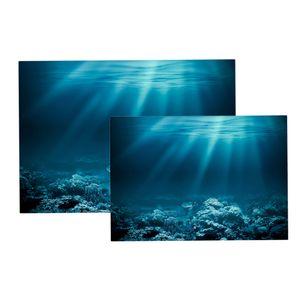 2 Stück Aquarium Aufkleber