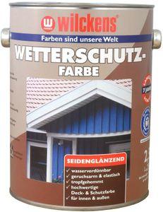 Wilckens Wetterschutzfarbe 2,5 L Innen, Außen Taubenblau RAL 5014 Seidenglänzend