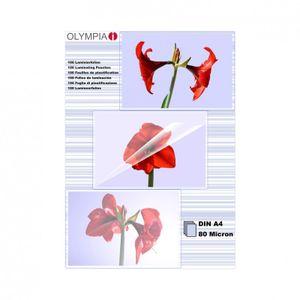 Olympia 1x100 DIN A4 80 micron - Transparent - DIN A4 - 100 Stück(e)