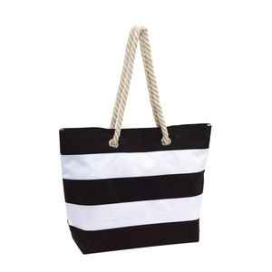 Strandtasche schwarz Henkeltasche 47 x 17 x 34 cm Damentasche Sylt Shopper
