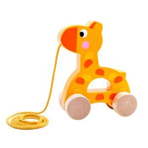 Tooky Toy Holz-Spielzeug Niedliche Giraffe zum Hinterherziehen ab 3 Jahren ca.