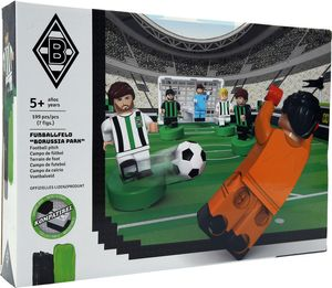 Borussia Mönchengladbach Fußballfeld aus Bausteinen, 197 Teile, 44,5x28,5x8cm