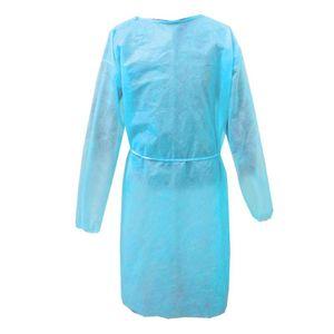 25 g blaue Strickbündchen (A) General Größe $ Einwegkittel PP-Vlies Staub Kleidung Servicebesuche Overalls Isolation Kleid