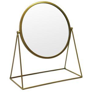 Tischspiegel im Retro-Look 26x13xH30cm Gold