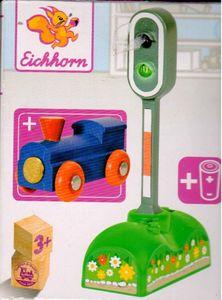 Eichhorn elektisches Lichtsignal, rotes und grünes LED Licht, manuelle/ automatische Lichtfunktion, inkl. Batterien, 6,5x3x12,5cm