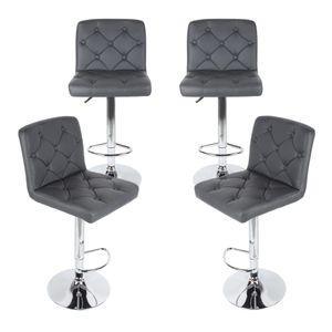 Barhocker 4er set - Barstuhl Tresenhocker Küchenhocker Loungesessel Esszimmerstuhl Grau