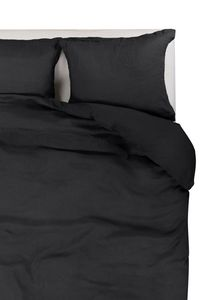 Passion for Linen | Luxus Bettbezug Remy | Leinen und Perkal Baumwolle, Größe:135-200 cm, Farbe:Off Black