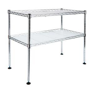 ONVAYA® Mikrowellenregal | Stehendes Küchenregal aus Metall | Standregal für die Arbeitsfläche