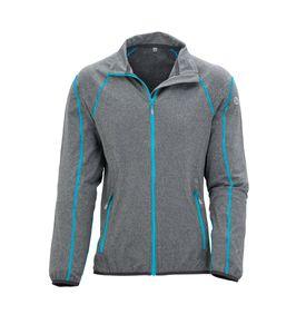 Wäfo Damen 5019 Vals Funktionsshirt Unterziehjacke Sportjacke, hochatmungsaktiv, schnelltrocknend, grau/hellblau, Größe: 46