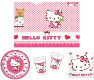 37- teiliges Party Set Hello Kitty Hearts