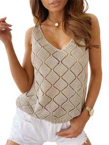 Damen Sommer Hohlweste lose Freizeitkleidung zu Hause,Farbe: Khaki,Größe:M