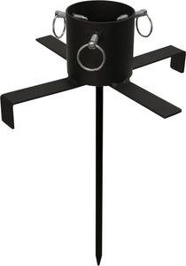 Best Season Christbaumständer mit Erdspiess,  9 cm Durchmesser, ca.47 x 37 cm, schwarz