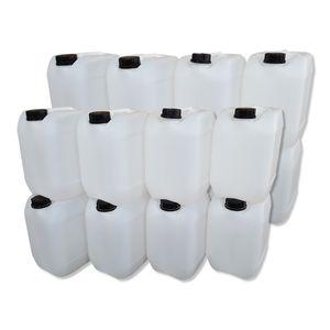 16 Stück 10 Liter Kanister, Wasserkanister Farbe natur lebensmittelecht DIN51 (16x10knn51)