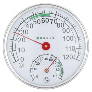 Mllaid Sauna-Hygrothermograph Thermometer Wandhängend Typ Saunaraum-Thermometer Hygrometer Temperatur-Feuchtigkeitsmessgerät Messwerkzeug