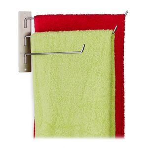 relaxdays Handtuchhalter 3 armig