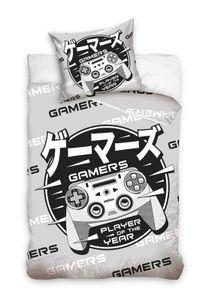 Gamer - Wende-Bettwäsche-Set, 135x200 & 80x80 cm