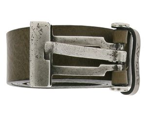 REPLAY Echtleder-Gürtel cooler Herren Alltags-Gürtel Taupe, Größe:85 cm