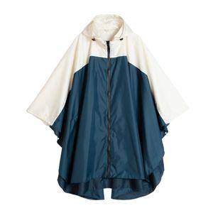 1 Stück Regenmantel , Mantel Blau beige wie beschrieben