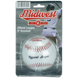 Midwest softball Offizielle Liga 9-Zoll-Vinyl weiß/rot