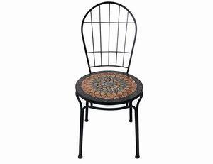 Siena Garden 380-811 Prato Stapelstuhl Eisen mit Mosaikoptik, schwarz (1 Stück)