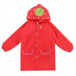 1PC Karikatur-Tier-Art-wasserdichte Kinder-Regenmantel für Kinder-Regen-Mantel -(rot,)