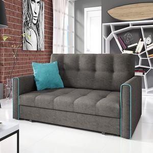 Mirjan24 Schlafsofa Viva Bis III, 3-Sitzer Sofa mit Bettkasten und Schlaffunktion, Polstersofa vom Hersteller, Stilvoll Couch (Alova 36 + Alova 29)