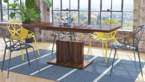 Design Couchtisch Tisch Grand Noir Nussbaum stufenlos höhenverstellbar ausziehbar 120 bis 180cm Esstisch