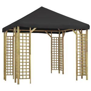 vidaXL Pavillon 3 x 3 m Anthrazit