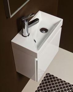 Quentis Waschplatz Faros 40, Gäste-WC Set 2-teilig, weiß glänzend, WB Ruth