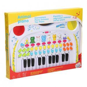 Lets Play tier-Tastatur mit 24 Tasten weiß 38 cm