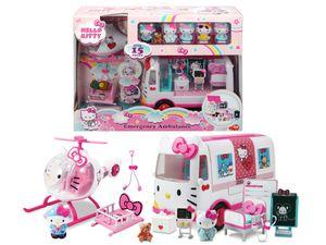 Dickie Toys Hello Kitty Rescue Set - Spielset Ambulanz mit Zubehör